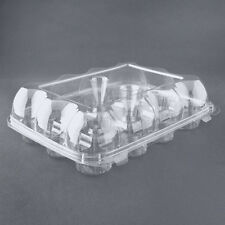 3pcs 12 Cupcake Cake Case Muffin Holder Box Container Carrier Clear Plastic
