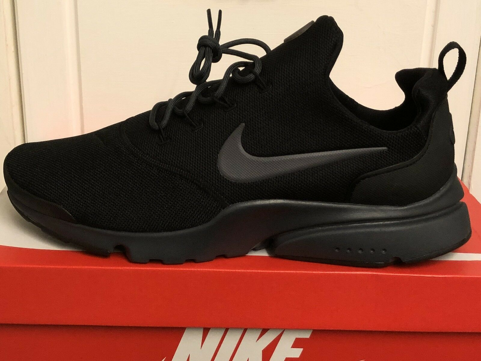 NIKE Chaussures AIR PRESTO FLY Hommes TRAINERS Baskets Chaussures NIKE 12 Eur 47,5 Noir fc6199
