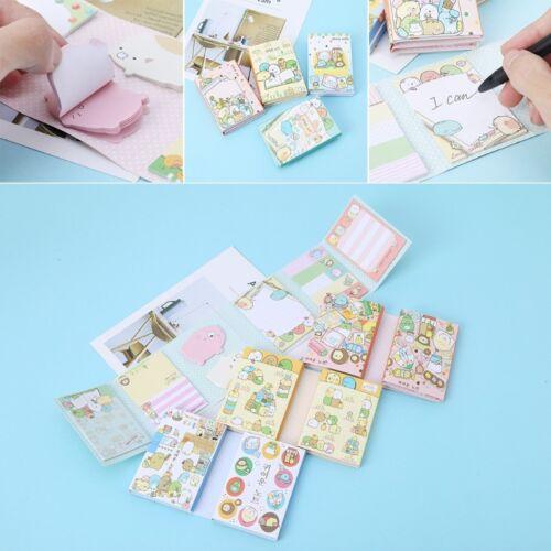 Cartoon Animals 6 Folding Memo Pads Sticky Notes Bookmark Stationery Notepad