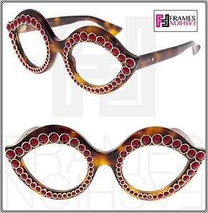 08accbc60d0 Image is loading GUCCI-CRYSTAL-LIPS-Red-Stud-3867-Tortoise-Sunglasses-