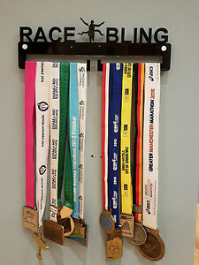 Medal-Hanger-Display-Holder-034-RACE-BLING-034-Acrylic-with-fixings-40cm