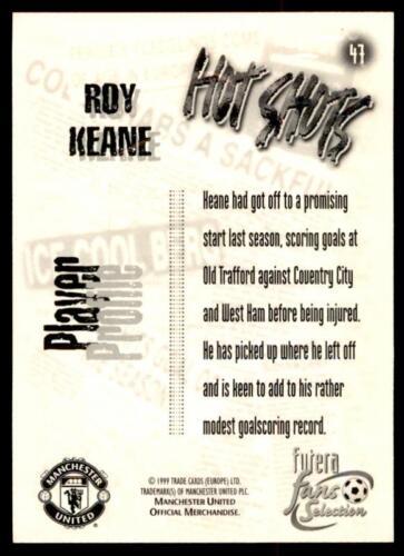 Cromo en relieve Futera Manchester United 1999-Roy Keane los ventiladores Hot Shots #47