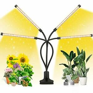 EZORKAS LED Grow Light 4 Head Timing 5 Dimmable Levels Plant Grow Light for I...