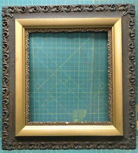 "Antique Wood Gilt Gesso Oak Gold Picture Frame 29½"" x 27¼"" for 19¼"" x 17¼"" Photo"