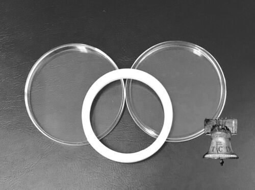 5 Air-tite Coin Holder Capsule Model I White 35mm Medallion A.A Medal Token