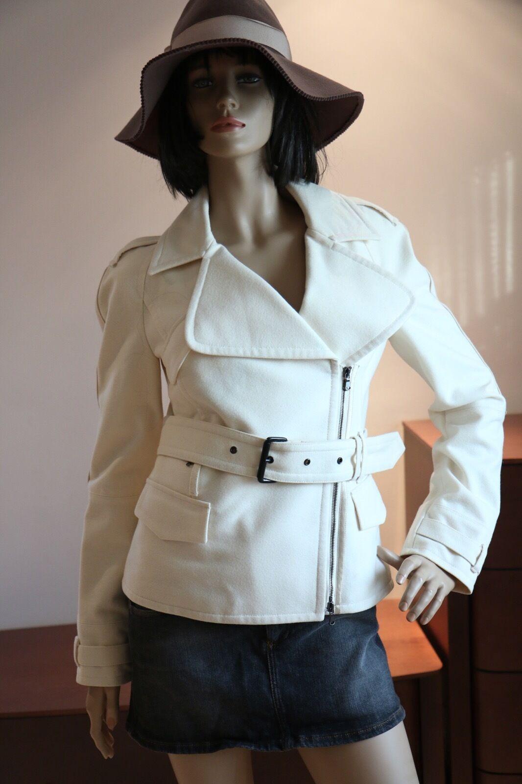 Costume National blancoo Apagado  Chaqueta abrigo collar de Stand Up 44  se descuenta
