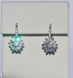 Echt-925-Sterling-Silber-Ohrringe-Ohrhaenger-Zirkonia-crystal-Hochzeit-Nr-75B