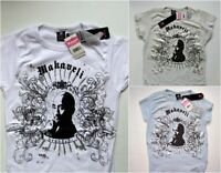 Boys T Shirts White Blue Beige Makaveli Small Medium Large