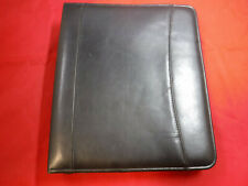 Pm2 Franklin Covey Classic Faux Leather Zip Binder 7 Rings 2 Black Planner