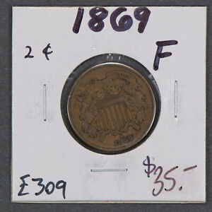 1869-2c-TWO-CENT-PIECE-LOT-E309