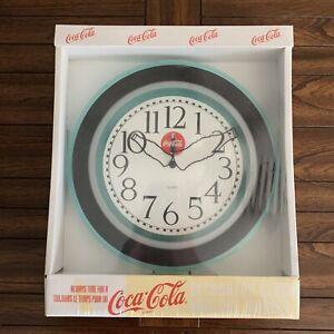 Vintage-Coca-Cola-Coke-Wall-Clock-Quartz-With-Ticking-Sound-12-034-Diameter