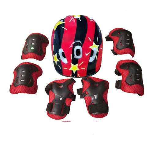 Boys Girls Kids Safety Helmet /& Knee /& Elbow Pad Set For Cycling Skate Bike Use
