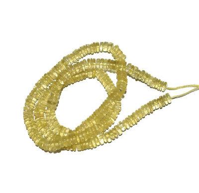 Natural Lemon Quartz Cut Stone Faceted Star Shape Beads Size-8.00mm 5 Match Pair Finest Quality