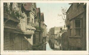 Weavers-039-Houses-River-Stour-Canterbury-by-Walter-G-Austen-Vintage-PC-RJ-1438