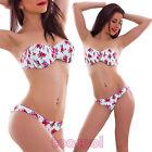 Bikini traje de baño mujer playa con aro push up mar flores nuevo SE88752
