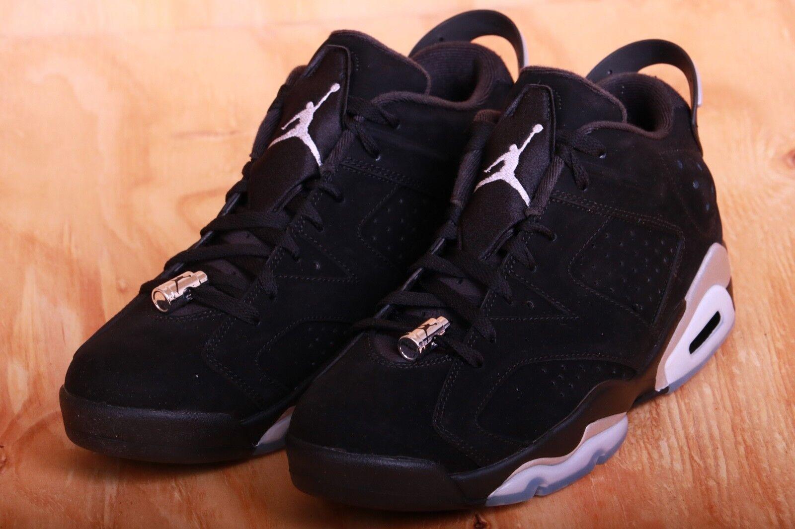 reputable site 52122 dd696 Nike Mens Air Jordan 6 Retro Black Metallic Sliver Sliver Sliver 304401 003  Size 9.5 dc456a