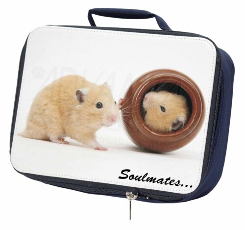 SOUL-87LBN Hamsters in Pot Soulmates/' Navy Insulated School Lunch Box Bag