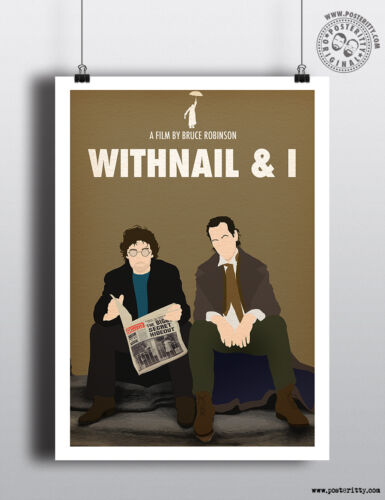 WITHNAIL /& I Minimalist Cult Movie Poster Posteritty Minimal Wall Art Design