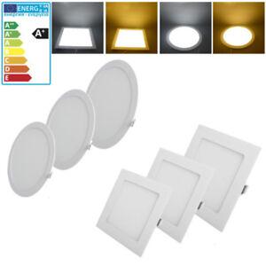 2X 6W LED Panel Aufputzlampe Deckenleuchte Deckenleuchte Weiß Küchen Lampe Rund