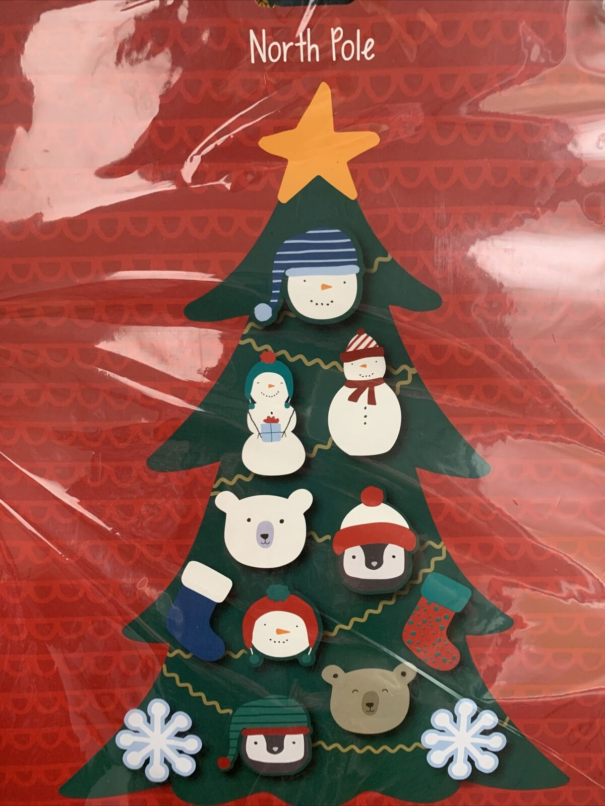 Wall Hanging Felt Christmas Tree Kit Large 90cm Childrens Kids Decorate Your Own For Sale Ebay