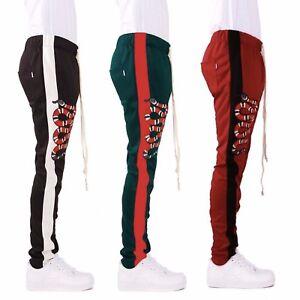 EPTM-Men-039-s-Side-Ankle-Zipper-Long-Snake-Patch-Techno-Track-Pants