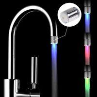 Rubinetto LED Sensore Temperatura Acqua Bagno Cucina Miscelatore Filtro 3 Colore
