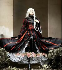 Fate Stay Night Saber Fate Zero Irisviel Cosplay Costume Goth Lolita dress Black