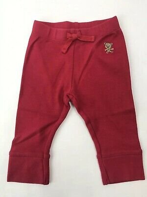 Gymboree NWT Baby Boy Girl 6-12 M Joy Hope Love Bear Pants Holiday Red