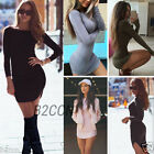 Fashion Women Bodycon Bandage Dress Long Sleeve Ladies Evening Party Mini Dress