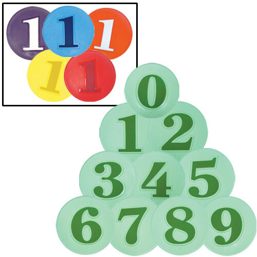 Green, Numbered (0-9) Poly Spots