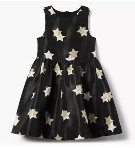 GYMBOREE-GIRLS-Fancy-BLACK-GOLD-STARS-Nwt-Dress-Holiday-Dressy-Size-7