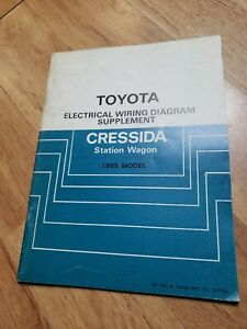 1985 Toyota Cressida Wagon Electrical Wiring Diagram ...