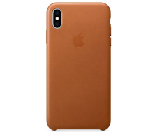OEM Genuine Apple Leather Case for iPhone XS Max Saddle Brown Mrwv2zm