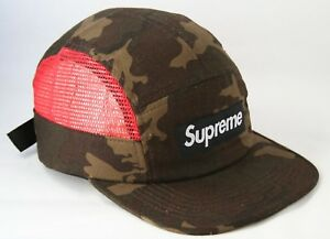 Supreme Side Mesh Camo Red S S 2013 Camp Cap 5 Panel Hat Deadstock ... 69cfbb50c01