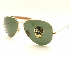 113bb7f40e0 Ray Ban 3029 L2112 62mm Gold G15 Outdoorsman New 100% Authentic Made ...