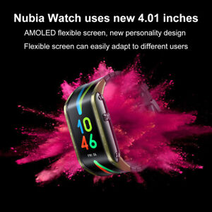 """Nubia Watch Bluetooth Mobile Smart Phone Watch 4.01"""" Curved Screen AMOLED Wrist"""