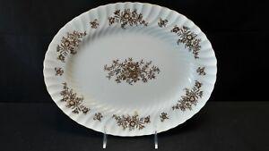 "Minton Marlow Gold H5017 12"" Oval Serving Platter"