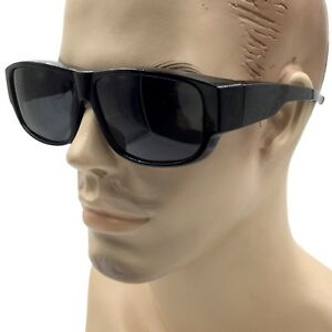 425d8ddbfb9c4 Details about LESS BULKY Men Women POLARIZED Cover Put Over Sunglasses Wear  Rx Fit Driving
