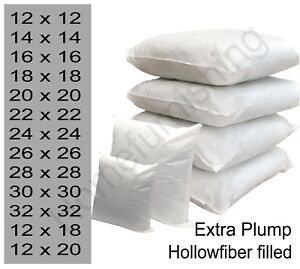 """Inner Fillers,Hollowfiber 12/""""14/""""16/""""18/""""20/""""22/""""24/""""26/"""" Top Quality Cushion Pads"""