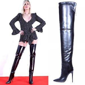 Vintage Over maurizio Boots � Knee Show Designer About 1500 New High Title Thigh Details Original Portoni Qdhtsr