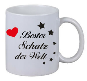 Kaffee Tasse Bester Schatz Der Welt Herz Geschenk Weihnachten