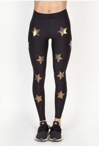 Ultracor Lux Knockout Print Star Leggings Size Medium Euc