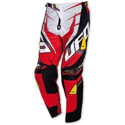 Pantaloni Moto Ufo cross enduro PI04377BRosso Voltage