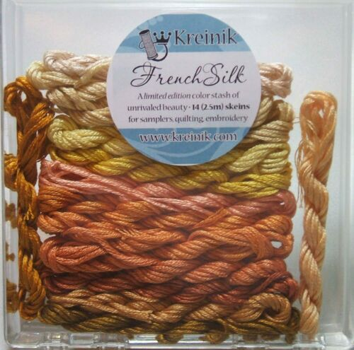 Kreinik Limited Edition French Silk Embroidery Floss Assortment Yellow