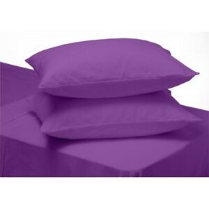 2-x-Purple-Plain-Dyed-Pillow-Cases-Housewife-Bedroom-Pillow-Cover-Cases