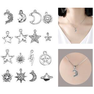 23-pcs-Mixed-Star-Moon-Sun-Planet-Charm-Tibet-Silver-Pendant-Bracelet-Beads-Gift