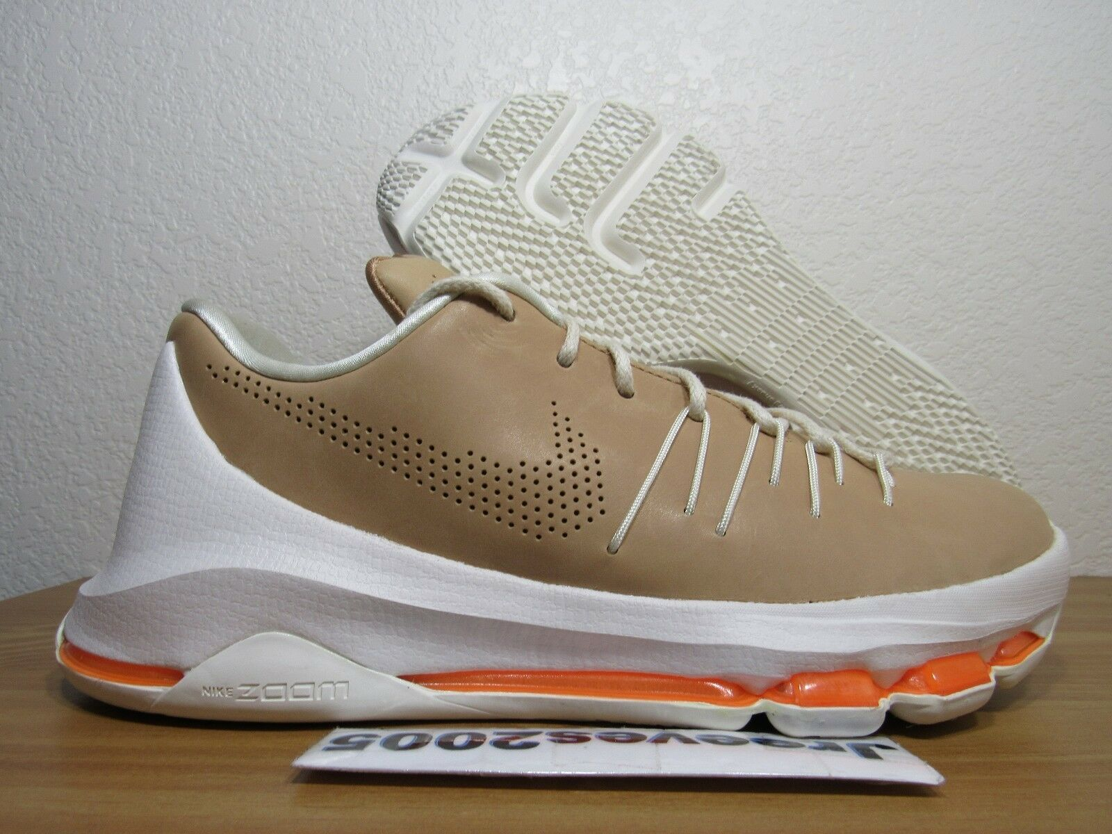 KD 8 EXT Vachetta Tan Sz 8 100% Authentic Nike Retro VIII 806393 200