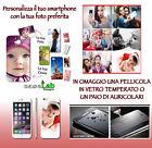 COVER PERSONALIZZATA + VETRO TEMPERATO O CUFFIE PER SAMSUNG GALAXY S6 EDGE G925