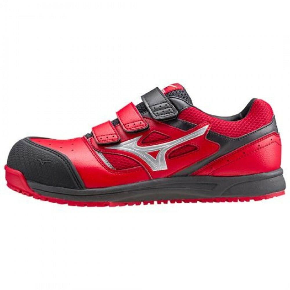 Mizuno Protective Working Sneakers ALMYGHTY Belt type Silver C1GA1601 Red × Silver type 1b225e