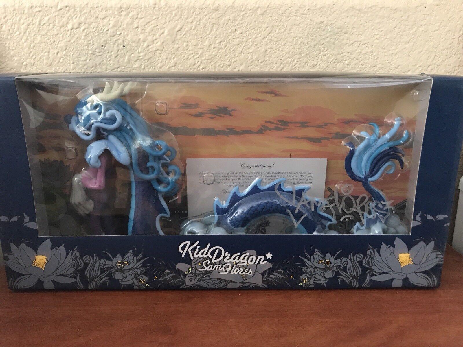 comprar mejor Sam Flores Niño Dragón Figura De Vinilo Azul Azul Azul Firmado The Loyal Subjects  la red entera más baja